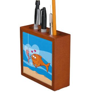 Fische und Köder in der Liebe Stifthalter