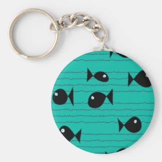 Fische und Schilfe Schlüsselanhänger