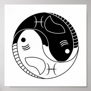yin yang poster. Black Bedroom Furniture Sets. Home Design Ideas