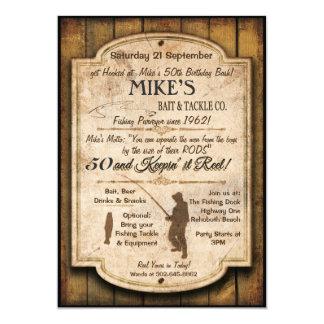 Fischen-Geburtstags-Einladung 12,7 X 17,8 Cm Einladungskarte
