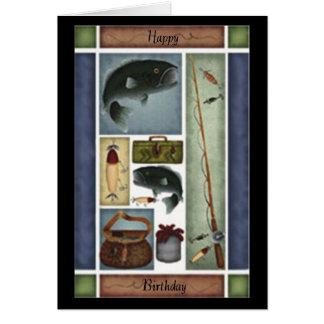 Fischen-Geburtstags-Karte Grußkarte