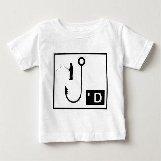 Fischen gehakt baby t-shirt