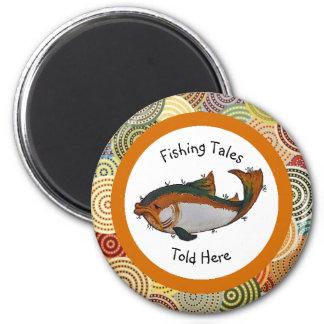 Fischen-Geschichten sagten hier Magneten Runder Magnet 5,7 Cm