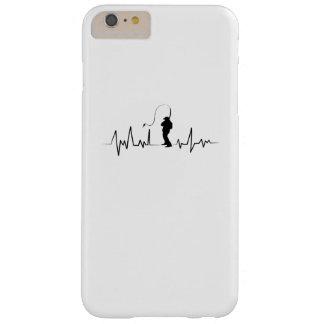 Fischen-Herzschlag-lustiges Geschenk für Fischer Barely There iPhone 6 Plus Hülle