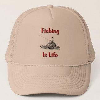 Fischen ist Leben Truckerkappe