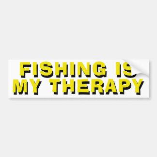 Fischen ist meine Therapie Autoaufkleber