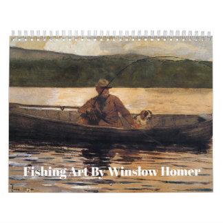 Fischen-Kunst durch Winslow Homer Abreißkalender