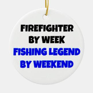 Fischen-Legenden-Feuerwehrmann Keramik Ornament