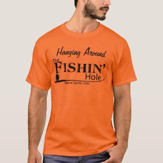 Fischen-Loch-T-Stück T-Shirt