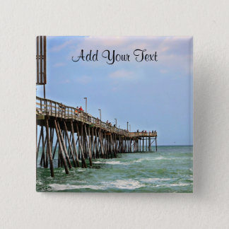 Fischen-Pier durch Shirley Taylor Quadratischer Button 5,1 Cm