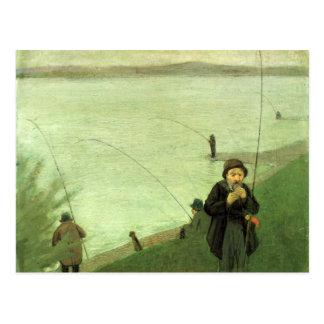 Fischen-Postkarte Postkarte