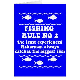 Fischen-Regel keine 2 Grußkarte