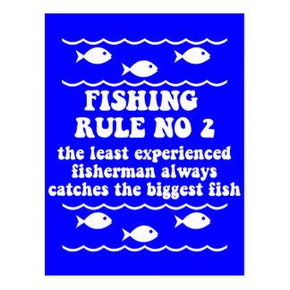 Fischen-Regel keine 2 Postkarte