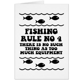 Fischen-Regel keine 4 Grußkarte