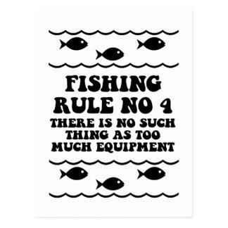 Fischen-Regel keine 4 Postkarten