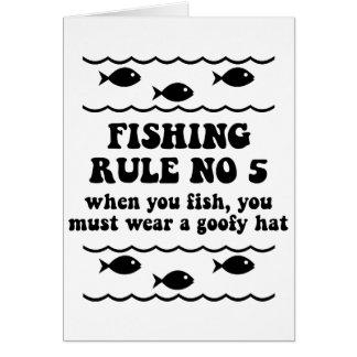 Fischen-Regel keine 5 Grußkarte
