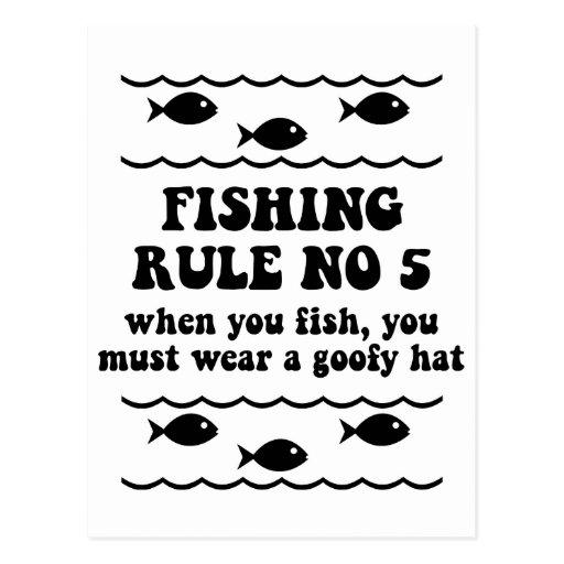 Fischen-Regel keine 5 Postkarte