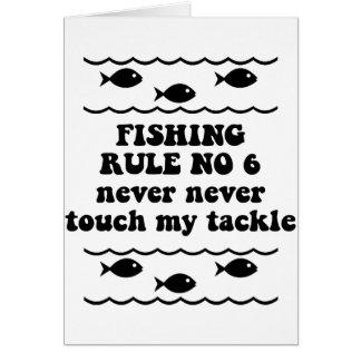 Fischen-Regel keine 6 Grußkarte