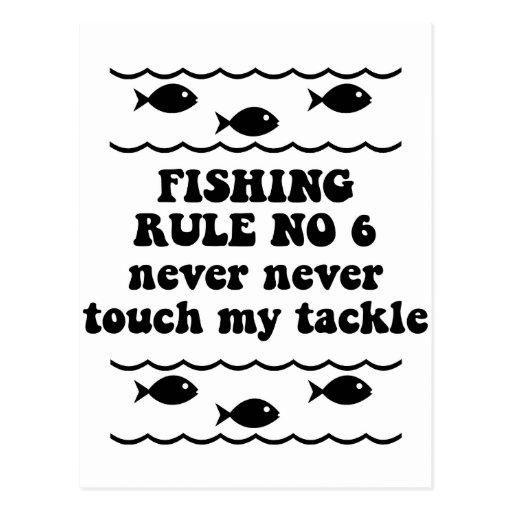 Fischen-Regel keine 6 Postkarte