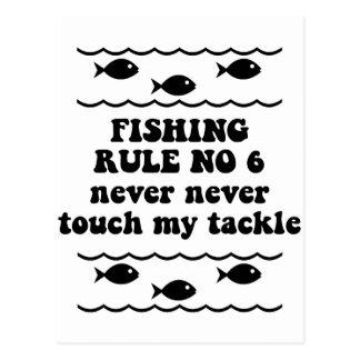 Fischen-Regel keine 6 Postkarten