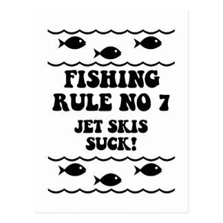 Fischen-Regel keine 7 Postkarte
