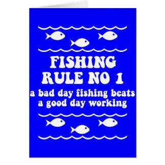 Fischen-Regel-NO1 Grußkarte