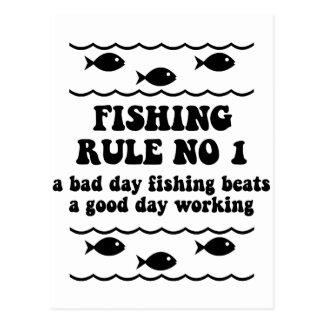 Fischen-Regel-NO1 Postkarten
