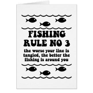 Fischen-Regel-NO3 Grußkarte