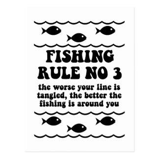 Fischen-Regel-NO3 Postkarte