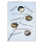 Fischen scherzt Kartennummer 1 Grußkarte