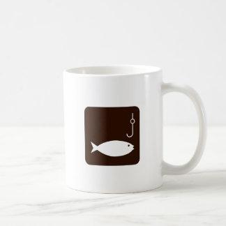 Fischen-Symbol Kaffeetasse