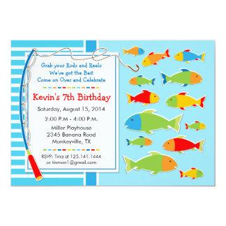 Fischen-Thema-Geburtstags-Party Einladung