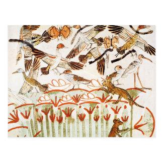 Fischen und Vogeljagd in den Sümpfen Postkarten