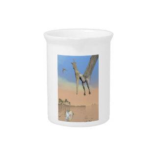Fischende Pteranodon Dinosaurier - 3D übertragen Getränke Pitcher