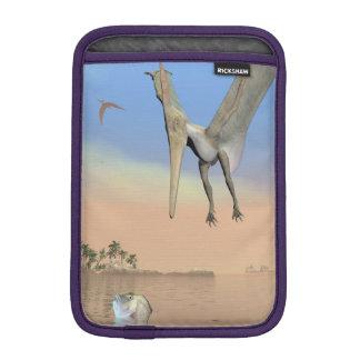 Fischende Pteranodon Dinosaurier - 3D übertragen Sleeve Für iPad Mini