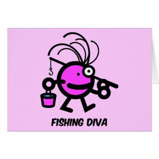 Fischendiva Grußkarte