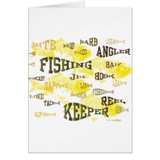 Fischenwörter Grußkarte