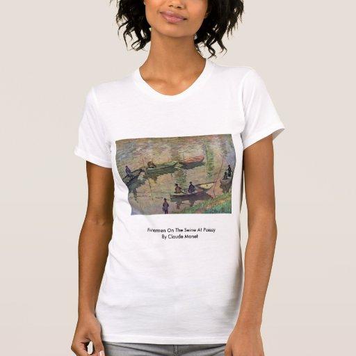 Fischer auf der Seine bei Poissy durch Claude Shirts