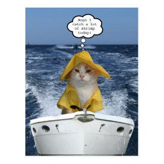 Fischer EL Gato (Katzen-Fischer) Postkarte