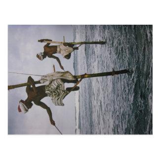 Fischer in Sri Lanka- Postkarte