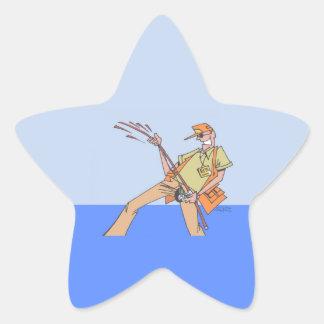 Fischer-Inneresternaufkleber Stern-Aufkleber