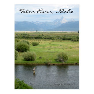 Fischer-Postkarte Teton Fluss-, Idaho Postkarte