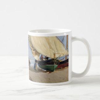 Fischer setzten Boot, Valencia - Joaquín Sorolla Kaffeetasse