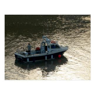 Fischerboot, Cardiff-Bucht Postkarte