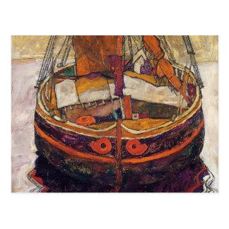 Fischerboot Egon Schiele- Triest Postkarte