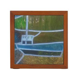 Fischerboot im Buntglas bei Cadgwith Cornwall Stifthalter