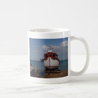 Fischerboot-Morgen-Dunst Kaffeetasse
