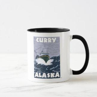 Fischerboot-Szene - Curry, Alaska Tasse