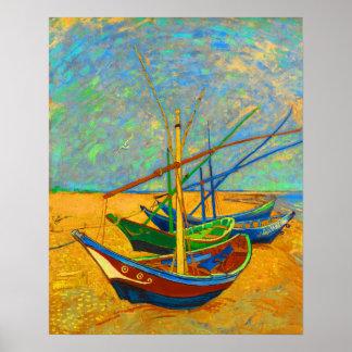 Fischerboote an St. Marie Poster