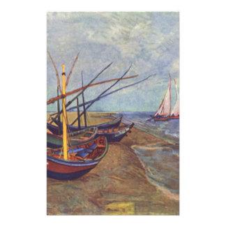 Fischerboote auf dem Strand durch Vincent van Gogh Briefpapier